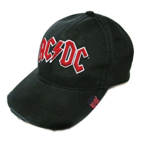 ACDC Baseball Black TUYAU DISTRÉE Logo rouge Embossed One Size Official Product