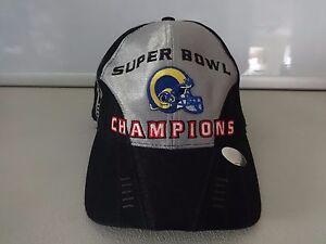 Vintage St. Louis Rams NFL Super Bowl XXXIV Champions 2000 Hat Cap ... 0afd32e015f6