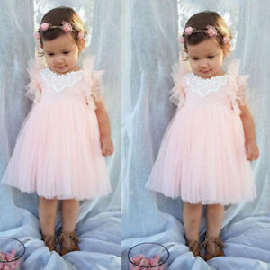 Toddler-Baby-Girls-Princess-Dress-Kids-Party-Wedding-Pageant-Tulle-Tutu-Dresses