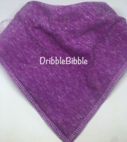 ❤ Toddler Child Dribble Bib Catcher Dry Bandana Girl Boy Dog Mottle Light Purple