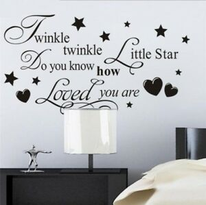 Details about Kids Bedroom Wall Stickers Childrens Baby Decorations Home  Vinyl Quotes Decals