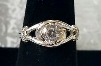 eternal Promise Ring By Avon Size 9 Silvertone In Box