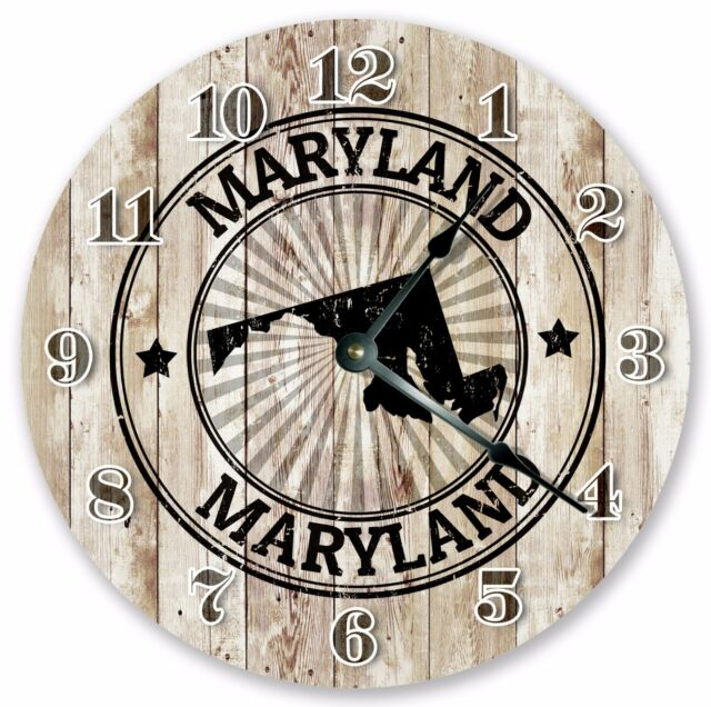 """10.5/"""" BOSTON MA STATE STAMP CLOCK Large 10.5/"""" Wall Clock Home Décor Clock 3301"""