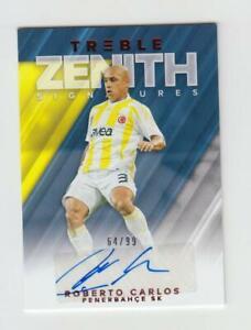 2018-19 Panini Treble Soccer Autograph Auto Card :Roberto Carlos #64/99
