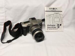 Minolta Maxxum 3 Date SLR Camera with 35-80 II Lens Zoom Kit