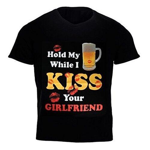 Halt My Beer While I Kiss You Freundin Lustig Humorvoll Witz Party