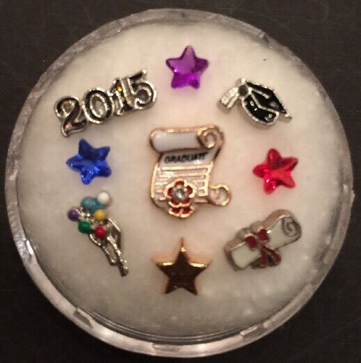 Floating Charm Set~*~GRADUATION 2015 Diploma Degree~*~for Living Memory Lockets