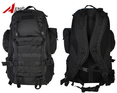 Airsoft Tactical Military Molle Combat Laptop Backpack Hunting Assault Bag Black