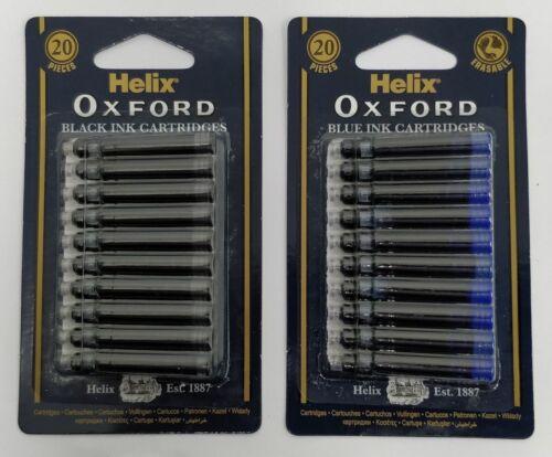 Helix Oxford Universal Blau Löschbar oder Schwarz Refill Tintenpatronen Füller