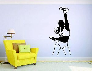 Image Is Loading Fitness Woman Wall Mural Vinyl Decal Sticker Decor