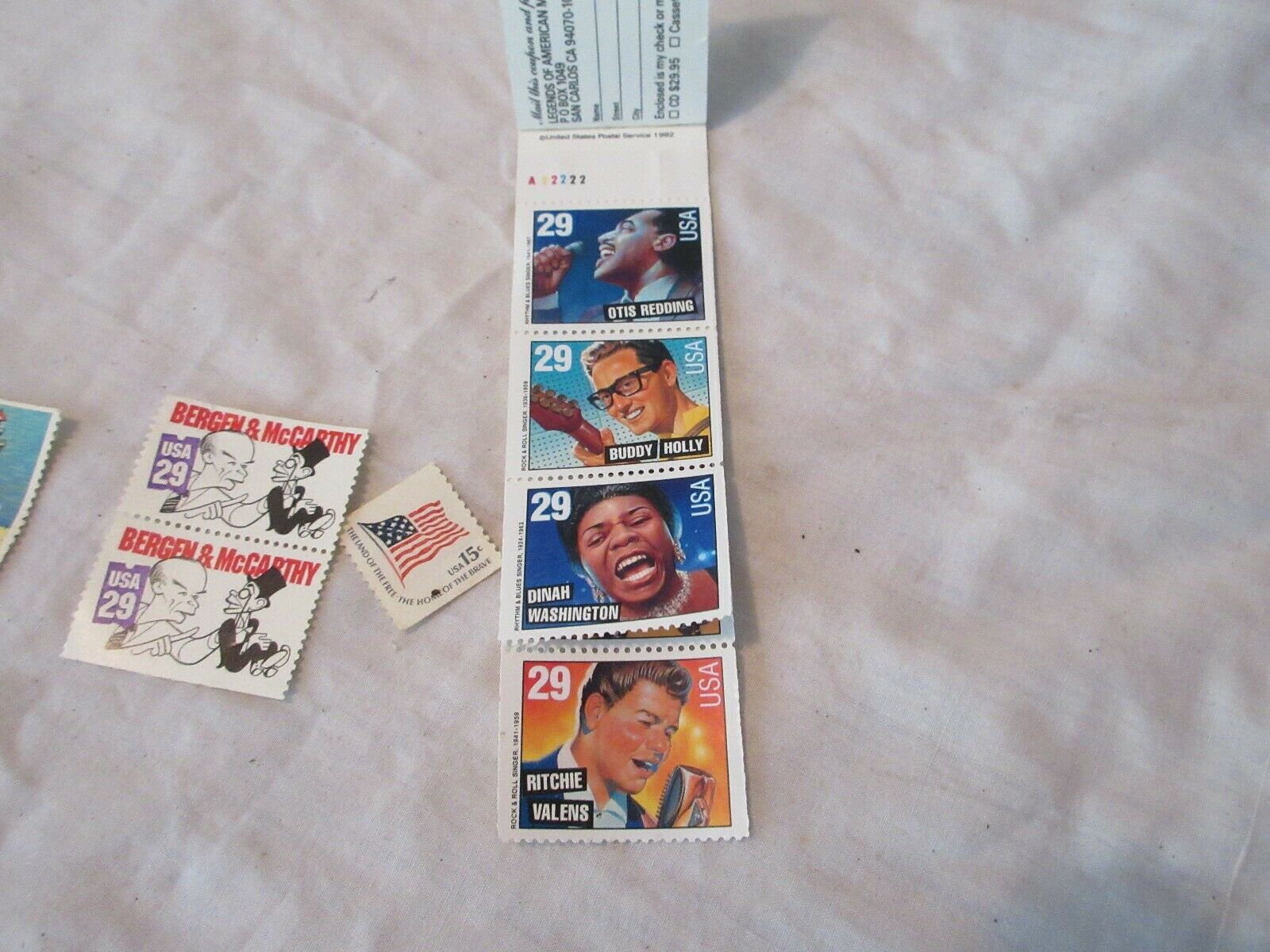 Rock & Roll Legends , USPS Stamps ,Elvis ,Valens , Holl