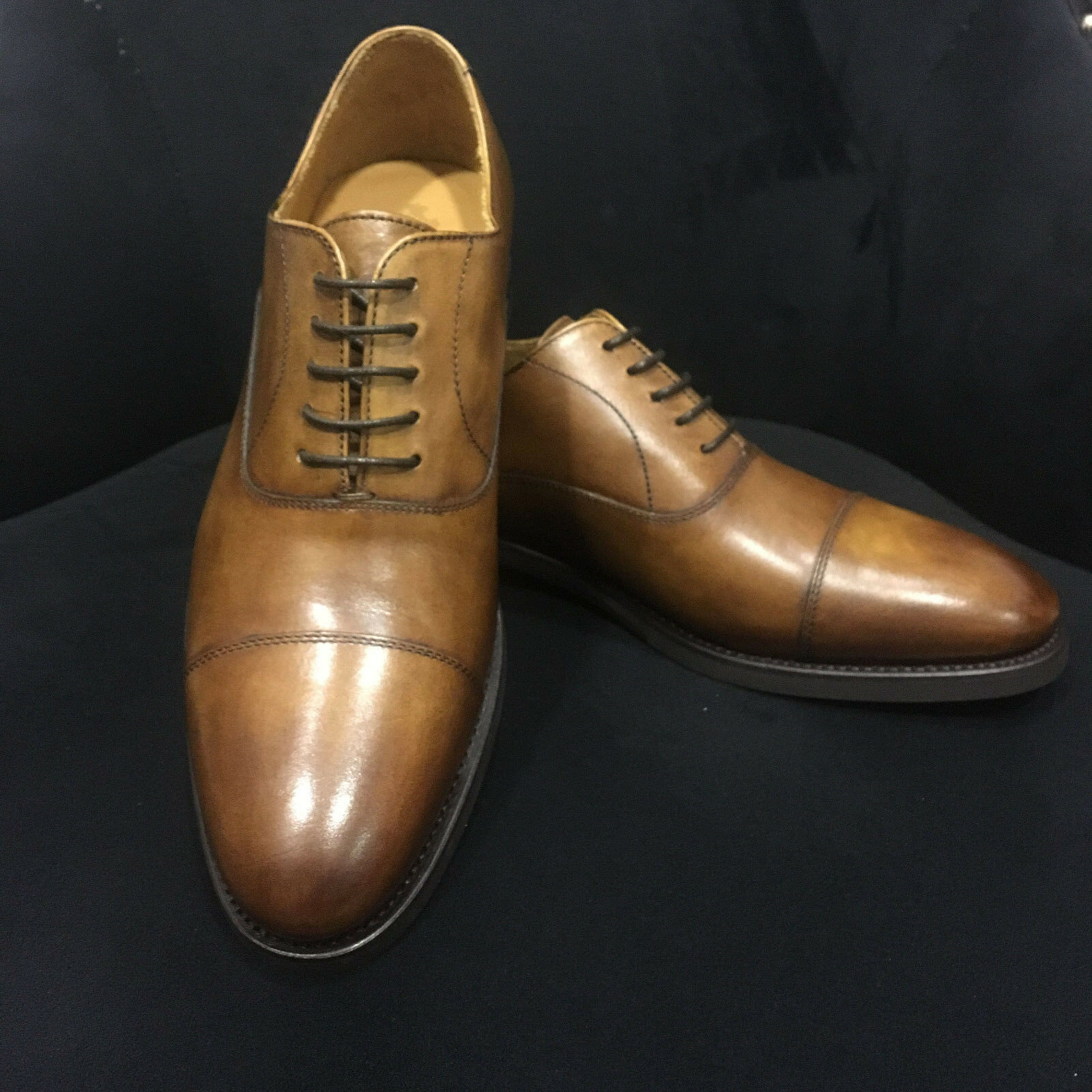 Berwick 1707 Scarpa in pelle Oxford Cognac Sicalf Goodyear Welted Welted Spagna