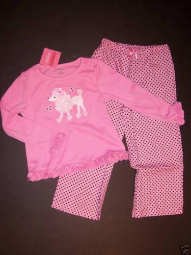 NWT Gymboree Pink Poodle Dot Gymmies Pajamas XS 3-4 3T