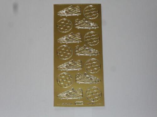 stickers de contour doré (thème:ballon, chaussure ) dimension totale:23x10cm