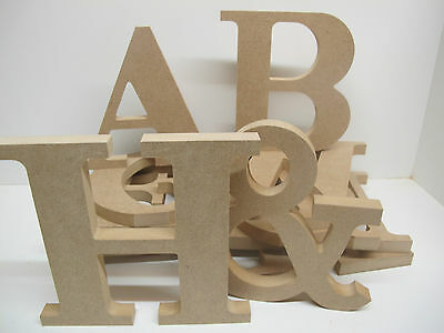 Wooden Letters Freestanding Large 200mm high,18mm Thick TIMES Font