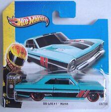 Hotwheels (2013) '66 CHEVY NOVA - LIGHT BLUE - #231/250 - 1/64 - HW SHOWROOM