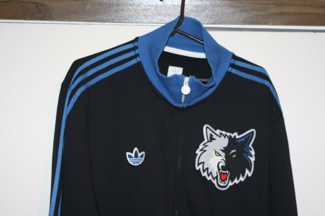 f8e3684a423 Adidas Minnesota Timberwolves Track Jacket  12 Men XL NBA Garnett Basketball  Hip