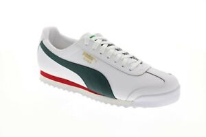 Details about Puma Roma Classic Vtg 36956903 Mens White Leather Lace Up Low Top Sneakers Shoes