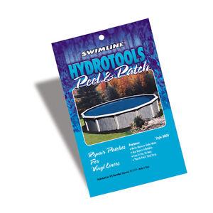 Swimming pool vinyl liner repair patch peel and stick kit for underwater 5 pack ebay for Swimming pool liner repair kit