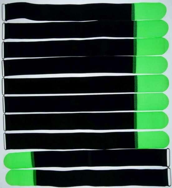 Cable 10x velcro 200 x 20 mm negro FK cinta de velcro velcro bridas con bandas ojal