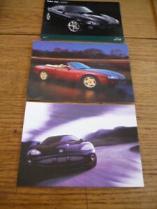 """Groupe De 3 Jaguar Xk, Usine A Publié Des Cartes Postales """"brochure""""-afficher Le Titre D'origine"""