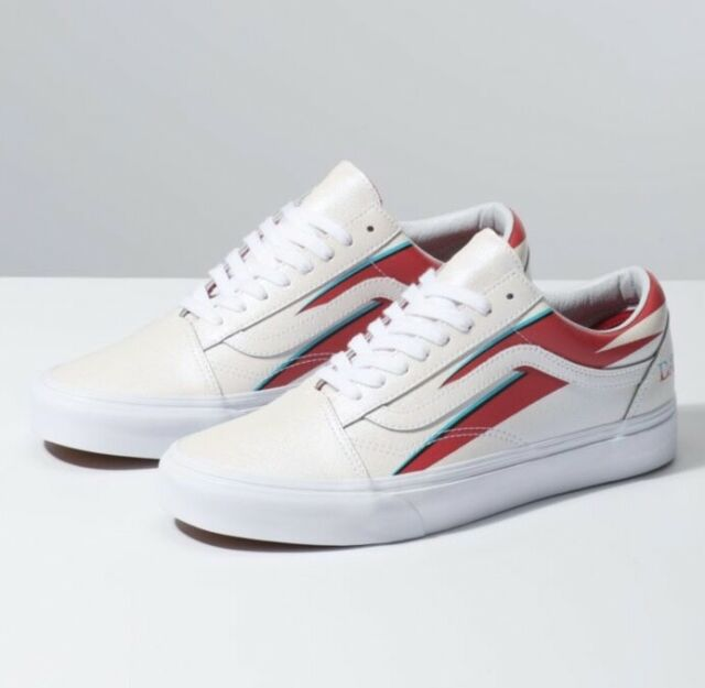 Vans Old Skool x David Bowie Aladdin Sane True White Red Blau DB Größe 3.5 13
