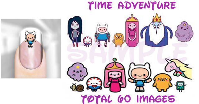 Time Adventure Inspired Art Decal Transfer Set of 60 Adult Kid Sz Easy Apply