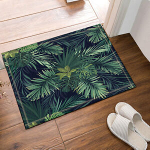 Bathroom Rug Non Slip Floor Door Mat, Green Bathroom Rug