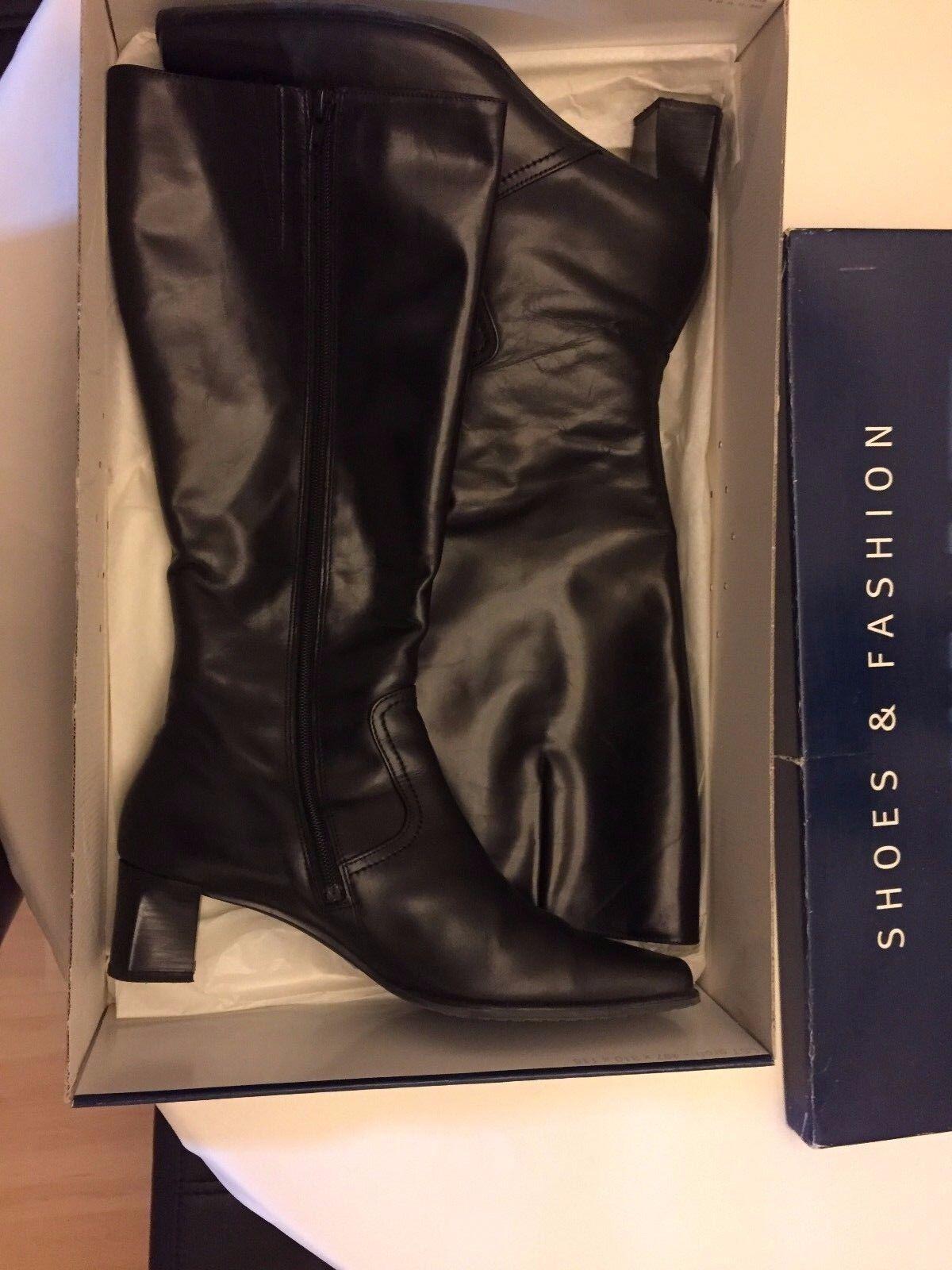 Gabor Stiefel Lederstiefel Lederstiefel Lederstiefel Größe 40 schwarz St. Tropez 27a18a