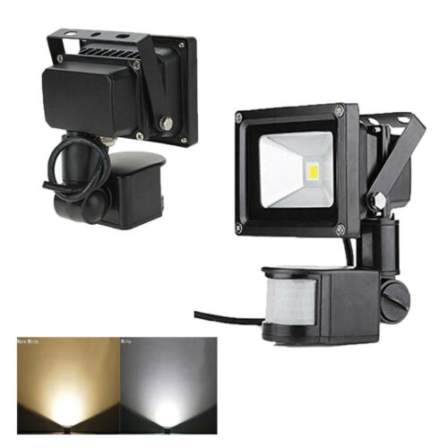 DEL Flood Light PIR Motion Sensor Spot Lampe étanche 10 W Jardin Projecteur