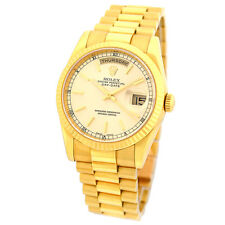 ROLEX 18K Yellow Gold 36mm Day Date President 118238 Solid Brac Warranty MINTY