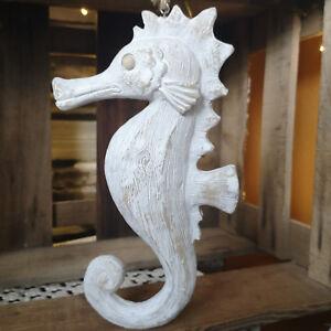 Seepferdchen Skulptur gross Holz Deko Seepferd Seepferdfigur Seepferdchen Figur