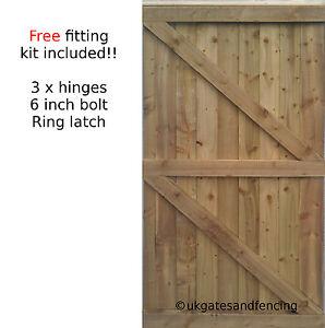 Wooden Garden Gate Wooden Gate Featheredge Side Gate All