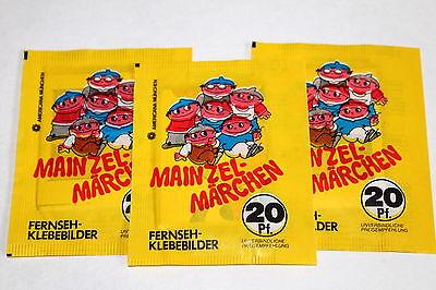 AMERICANA 1980 Mainzel-Märchen Mainzelmännchen 3 x Tüte packet bustina RAR!