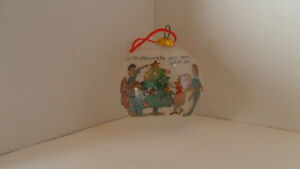 Sally Huss Glass Ball Ornament - May We Decorate Our Hearts With Joy - with Box!