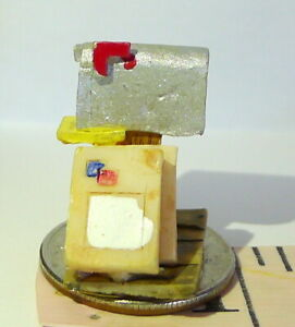 """Victorian Village Mail Box and Packages Rural Route 1"""" in  tall mini miniature"""