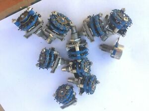 Builder's Lot of Vintage CRL Guitar Effects Rack, Amplifier Rotary Switches