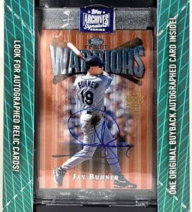 2020-Topps-Archives-Retired-Finest-Warrior-AUTO-JAY-BUHNER-92-Seattle-Mariners
