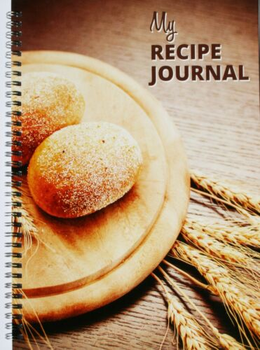 Recipe Journal A4 PERSONALISED COVER wirebound 137 blank pages, bread