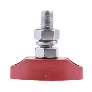 Insulated Red Ground Battery Power Junction Post Block 6mm 8mm Stud