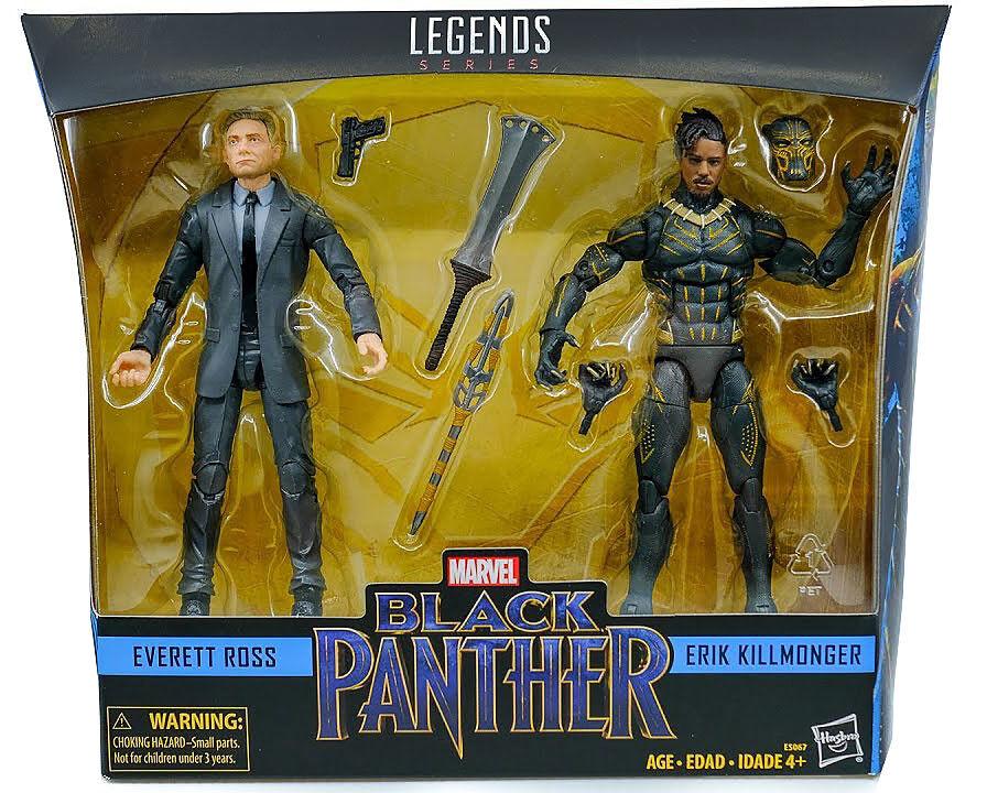 (In-Hand)100% Hasbro Marvel Legends 6  Everett Ross & Erik Erik Erik Killmonger Set NEW 00217c