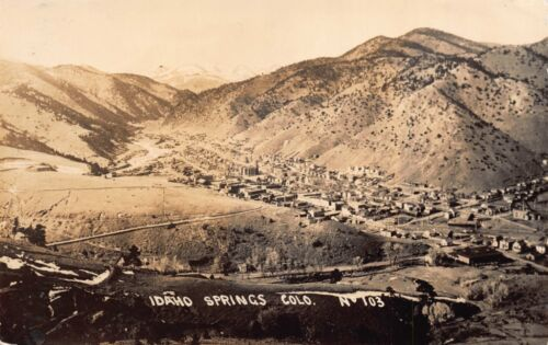 Real Photo Postcard Overview of Idaho Springs, Colorado111582