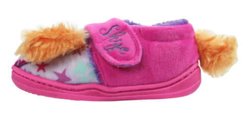 Paw Patrol Skye Girls Soft Touch Pink Low Top Slippers UK Sizes Child 5-10