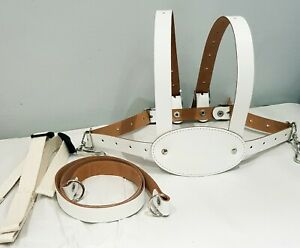 Genuine-White-Leather-toddler-baby-reins-harness-6m-4yr