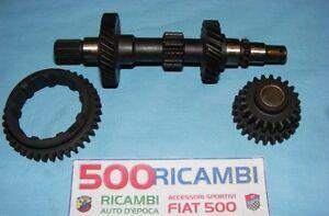 FIAT-500-F-L-KIT-TRIPLA-CAMBIO-4-MARCE-INGRANAGGI-ORIGINALI-REVISIONE-1-2-RETRO