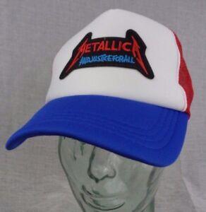 Image is loading metallica-trucker-hat-mesh-cap-adjustable-snapback 580b9fc5bb4