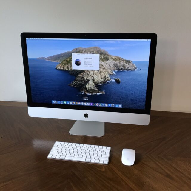 Apple Imac With 27in Retina 5k Display 2tb Fusion Drive Intel Core I5 9th Gen 4 60 Ghz 8gb Gray Mrr12ll A March 2019 For Sale Online Ebay