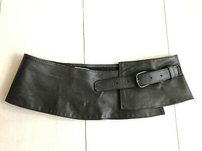 Simbolo Del Marchio Fisher Pelle Designer Collection Vintage Grigio Fibbia Cintura-hand Made In England-