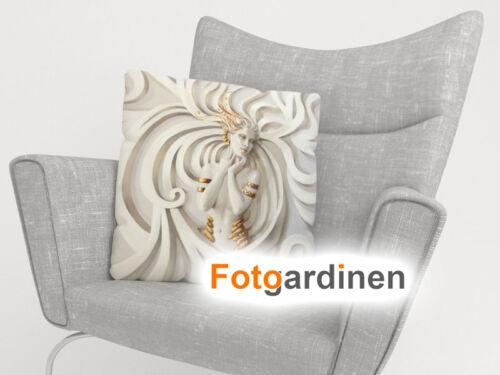 """3D Fotodruck Kissenhülle mit Motiv Foto-Kissenbezug /""""Kunst/"""" auf Maß"""