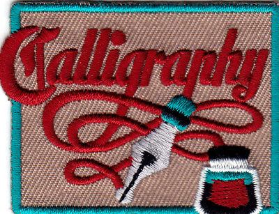 """calligraphy"" Lettering Art Writing Iron On Embroidered Patch"